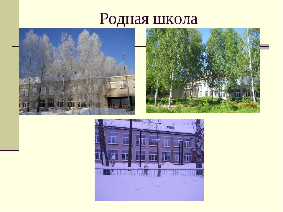 Родная школа