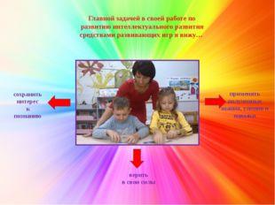 Главной задачей в своей работе по развитию интеллектуального развития средст