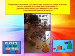 Играя в игру «Черепашка», дети закрепляют полученные знания , выполняя тесты