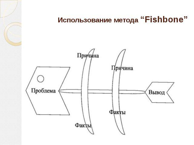 """Использование метода """"Fishbone"""""""