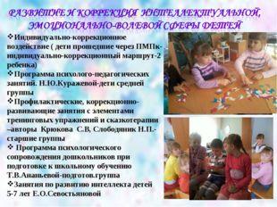 Индивидуально-коррекционное воздействие ( дети прошедшие через ПМПк- индивиду