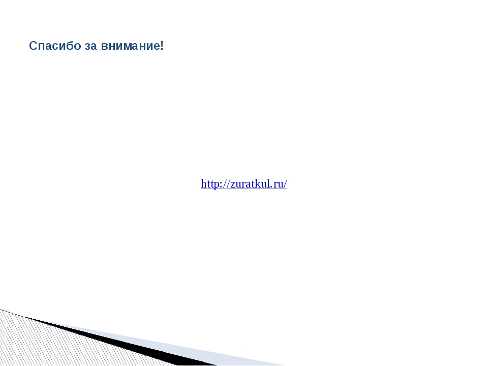 Спасибо за внимание! http://zuratkul.ru/