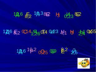 Д Е Л Е Н И Е Д Е С Я Т И Ч Н Ы Х Д Р О Б Е Й 12,6 12,6 12,6 8,2 8,2 8,2 8,2