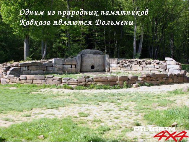 Одним из природных памятников Кавказа являются Дольмены