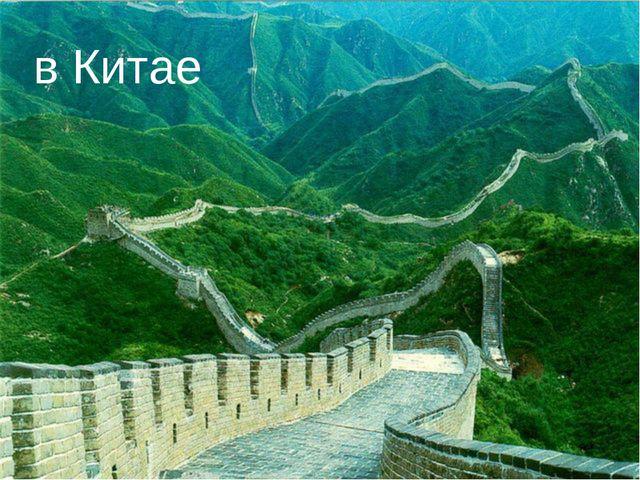 в Китае