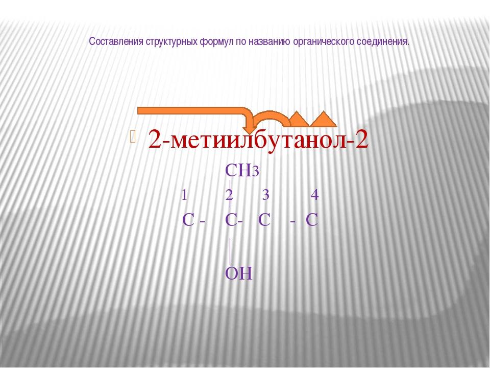 Составления структурных формул по названию органического соединения. 2-метиил...