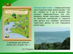 Таганрогский залив– Северо-восточная часть Азовского моря. Длина залива – 14