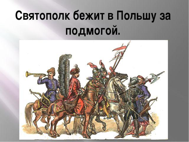 Святополк бежит в Польшу за подмогой.