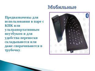 Предназначены для использования в паре с КПК или ультрапортативным ноутбуком