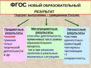 Предметные результаты знания умения опыт творческой деятельности и др. Метапр