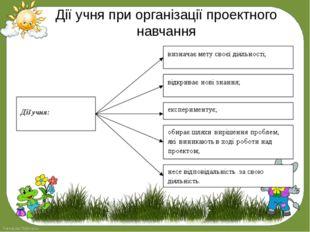 Дії учня при організації проектного навчання FokinaLida.75@mail.ru