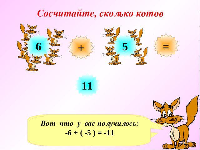 Сосчитайте, сколько котов + = 6 5 11 Хочу представиться. Сегодня меня зовут к...