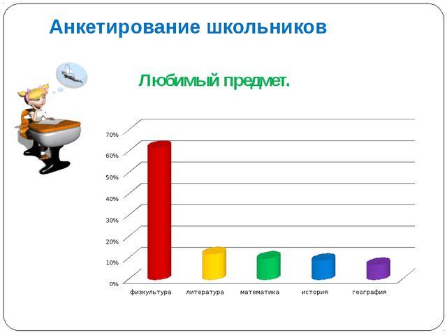 Анкетирование школьников Любимый предмет.
