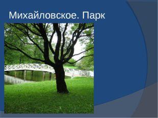 Михайловское. Парк