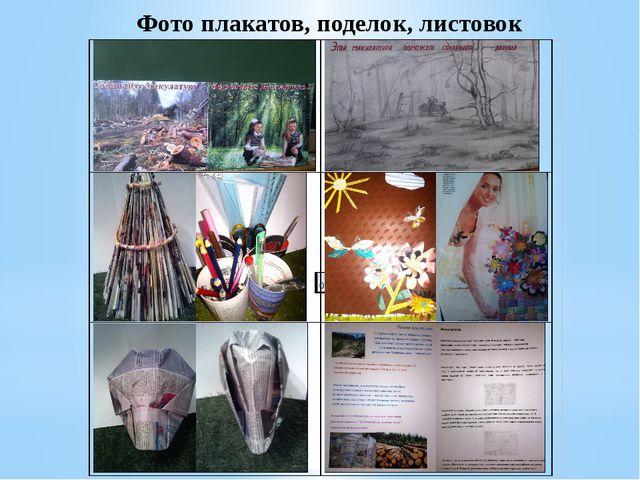 Фото плакатов, поделок, листовок