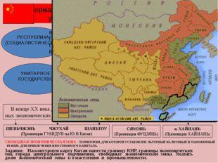 Форма правления и административно-территориальное устройство Китайской Народ