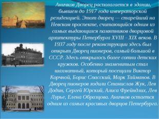 Аничков Дворец располагается в здании, бывшем до 1917 года императорской рез