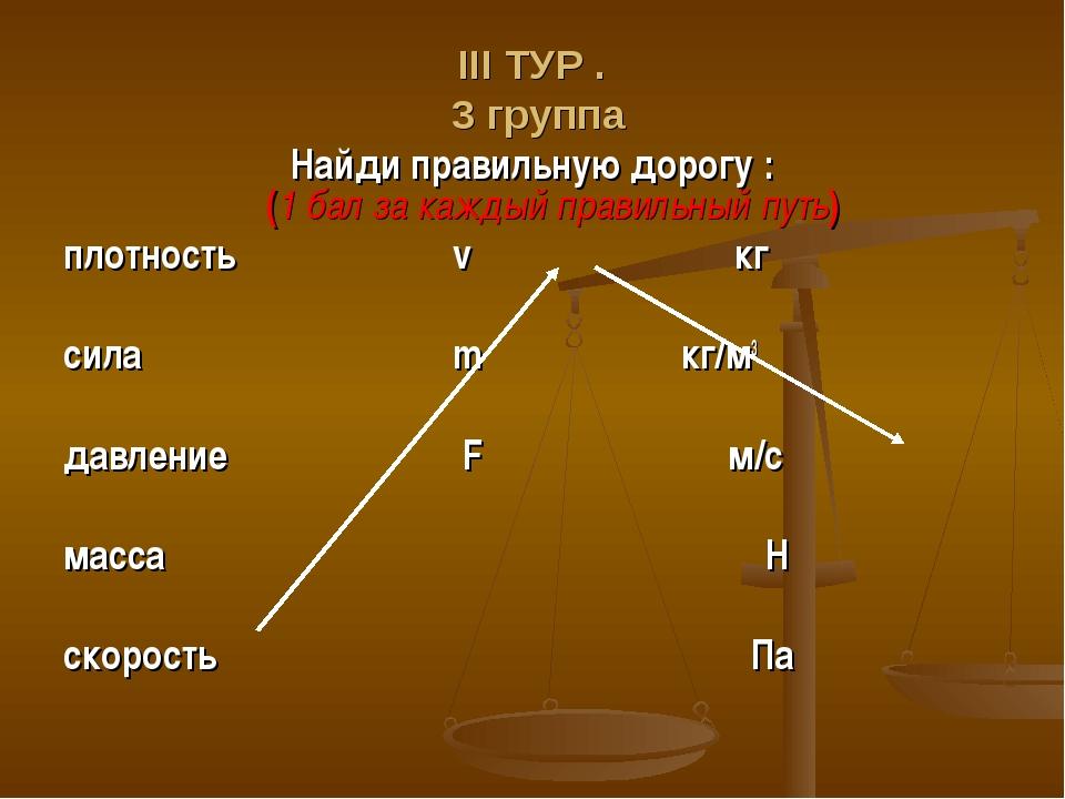 ΙΙΙ ТУР . 3 группа Найди правильную дорогу : (1 бал за каждый правильный путь...