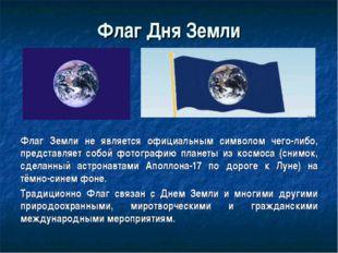 Флаг Земли не является официальным символом чего-либо, представляет собой фот