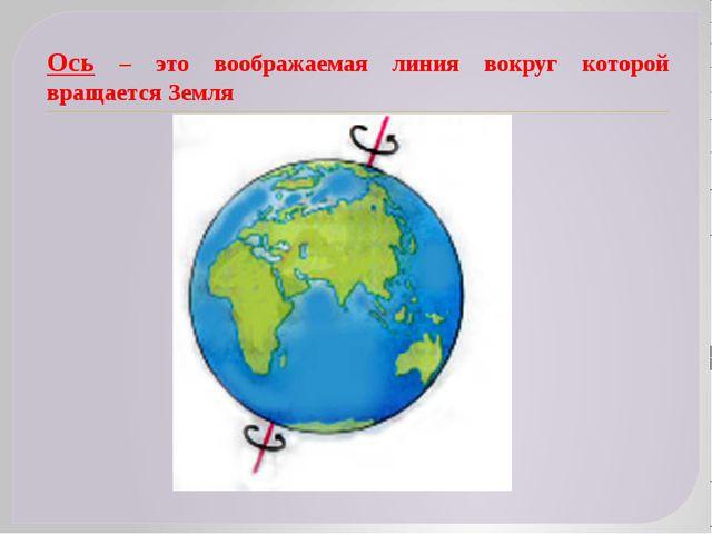 Ось – это воображаемая линия вокруг которой вращается Земля