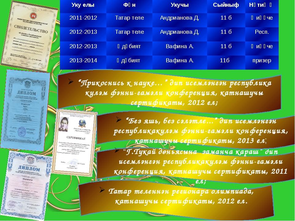 """""""Прикоснись к науке…"""" дип исемләнгән республика күләм фәнни-гамәли конференц..."""