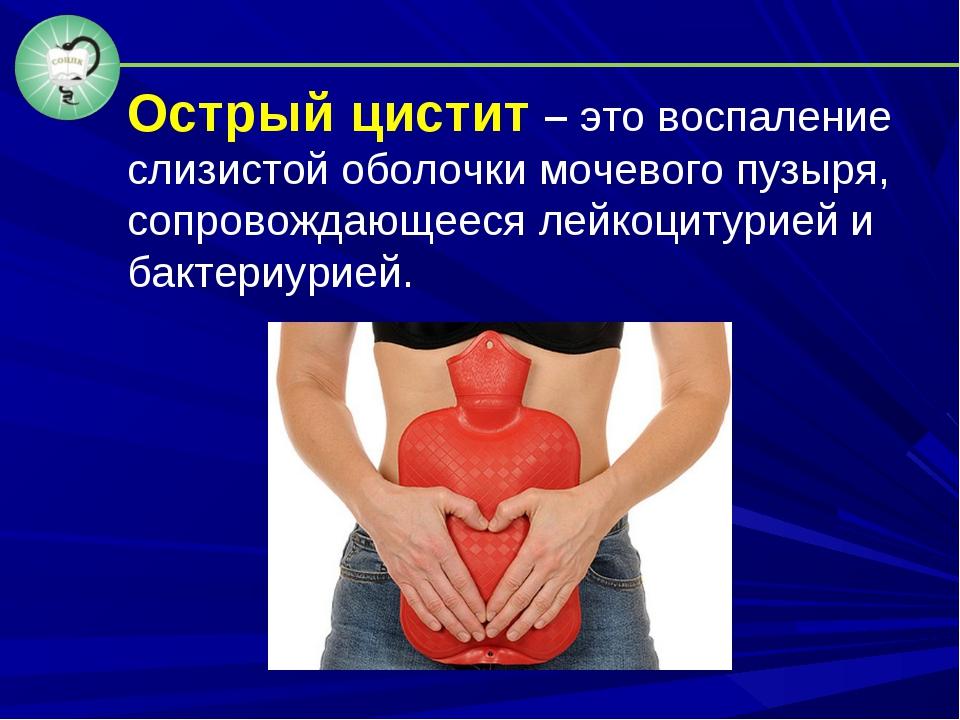 Острый цистит – это воспаление слизистой оболочки мочевого пузыря, сопровожда...