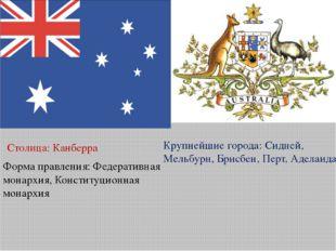 Форма правления:Федеративная монархия, Конституционная монархия Столица:Кан