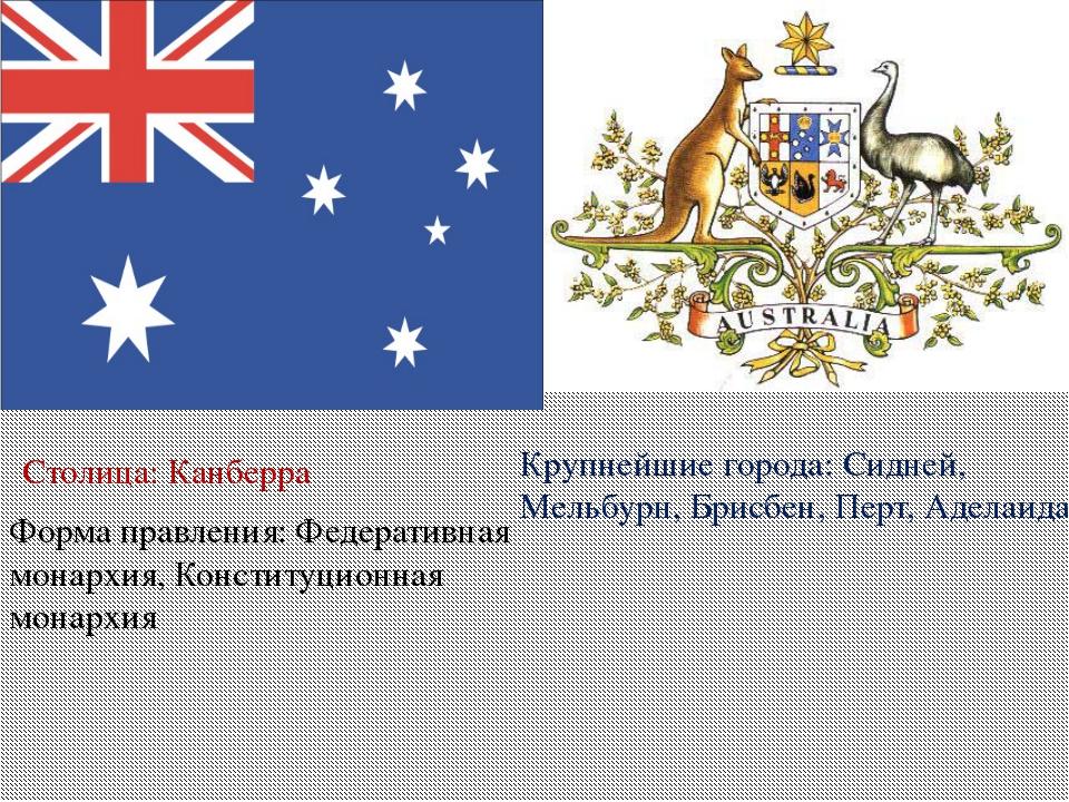 Форма правления:Федеративная монархия, Конституционная монархия Столица:Кан...