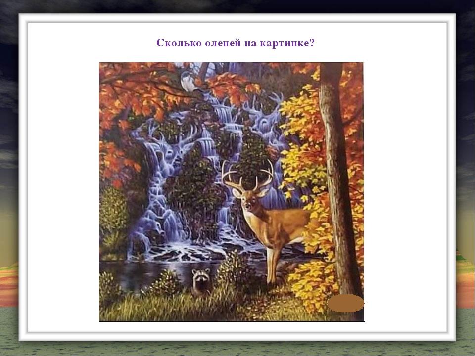Сколько оленей на картинке?