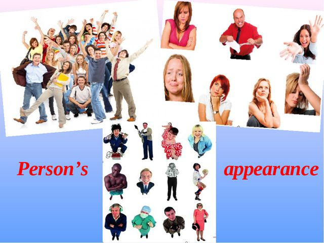 appearance Person's