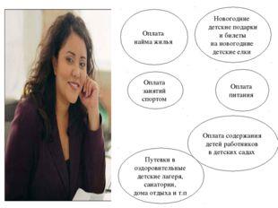 Оплата содержания детей работников в детских садах Путевки в оздоровительные