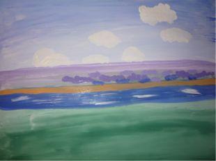 Рисуем облака белым цветом