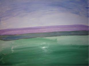 В этот цвет добавляем зеленого и рисуем край берега.