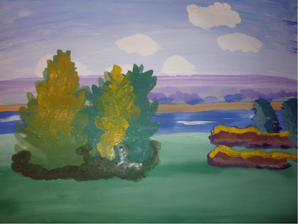 Рисуем большие деревья на переднем плане