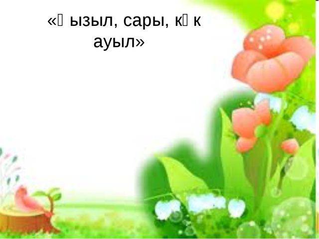 «Қызыл, сары, көк ауыл»