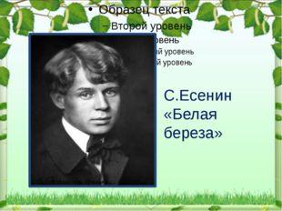 С.Есенин «Белая береза»