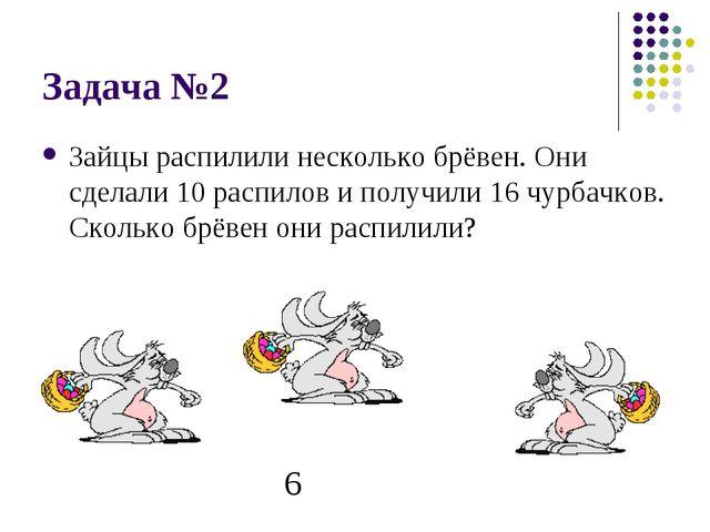 Задача №2 Зайцы распилили несколько брёвен. Они сделали 10 распилов и получил...