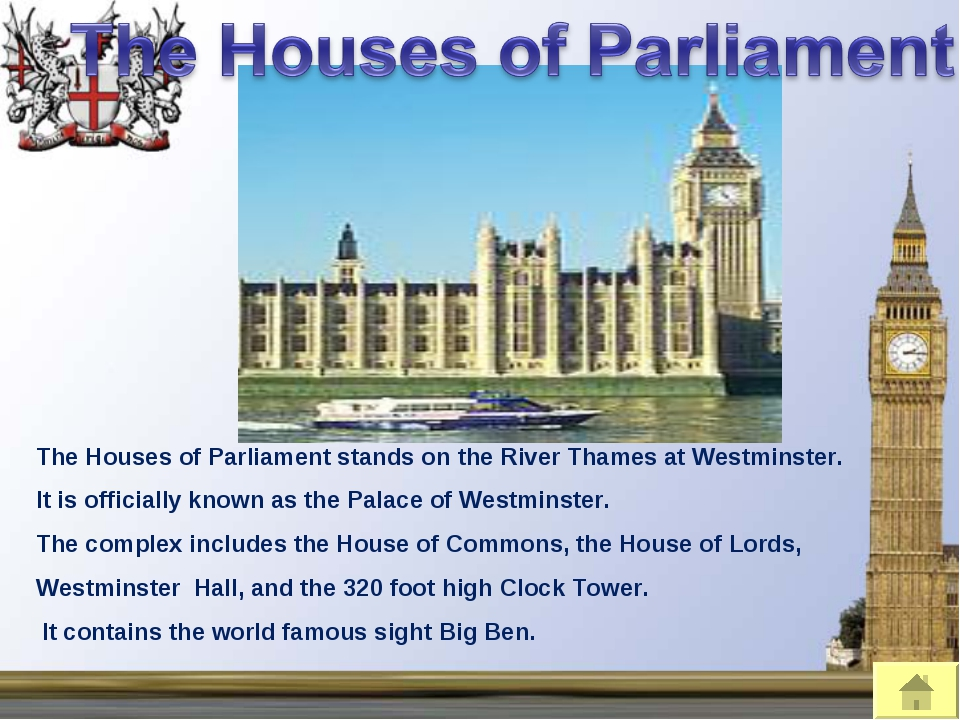 The Houses of Parliament stands on the River Thames at Westminster. It is off...