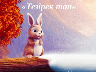 «Тезірек тап»