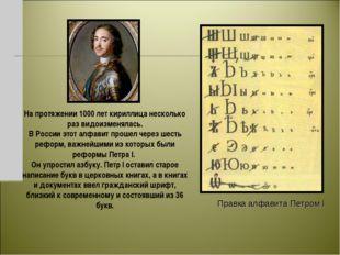 На протяжении 1000 лет кириллица несколько раз видоизменялась. В России этот