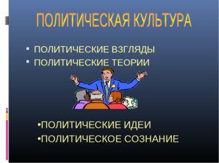 ПОЛИТИЧЕСКИЕ ВЗГЛЯДЫ ПОЛИТИЧЕСКИЕ ТЕОРИИ ПОЛИТИЧЕСКИЕ ИДЕИ ПОЛИТИЧЕСКОЕ СОЗНА