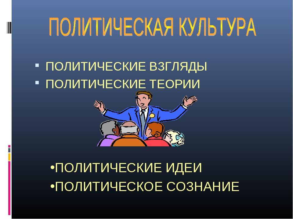 ПОЛИТИЧЕСКИЕ ВЗГЛЯДЫ ПОЛИТИЧЕСКИЕ ТЕОРИИ ПОЛИТИЧЕСКИЕ ИДЕИ ПОЛИТИЧЕСКОЕ СОЗНА...