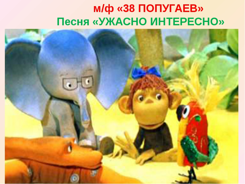 м/ф «38 ПОПУГАЕВ» Песня «УЖАСНО ИНТЕРЕСНО»