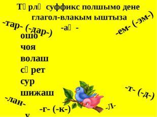 Глагол Неопределенный формо Аклыме формо Суффикс -аш, -ман Игылтме формо Ныжы