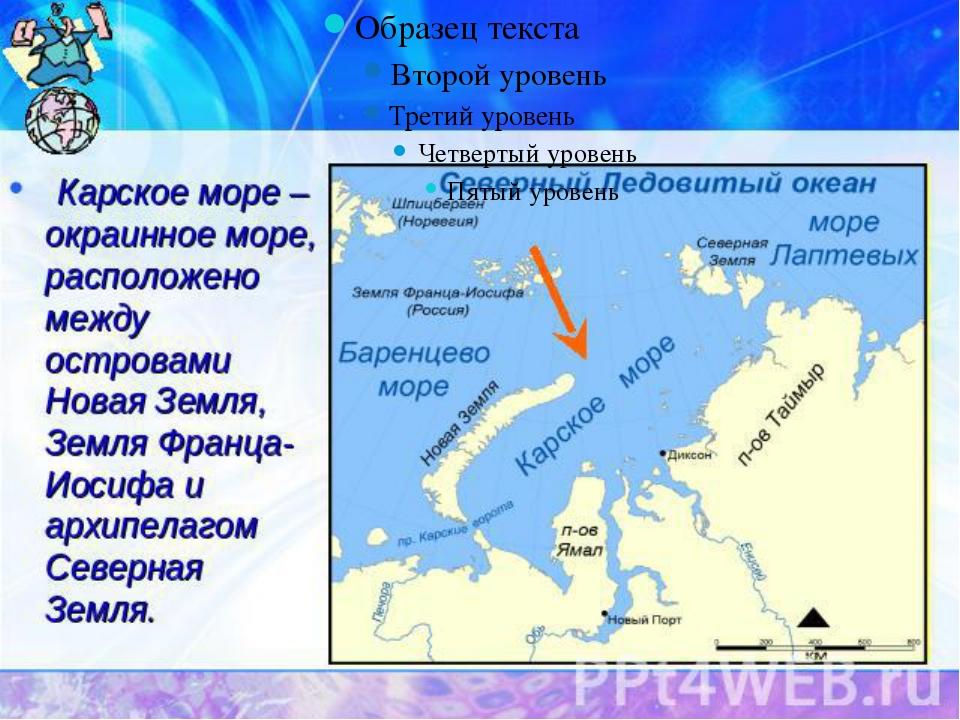 Моря атлантического и тихого океанов