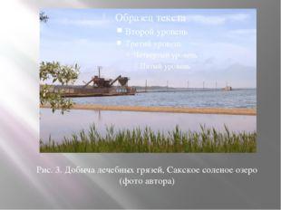 Рис. 3. Добыча лечебных грязей, Сакское соленое озеро (фото автора)