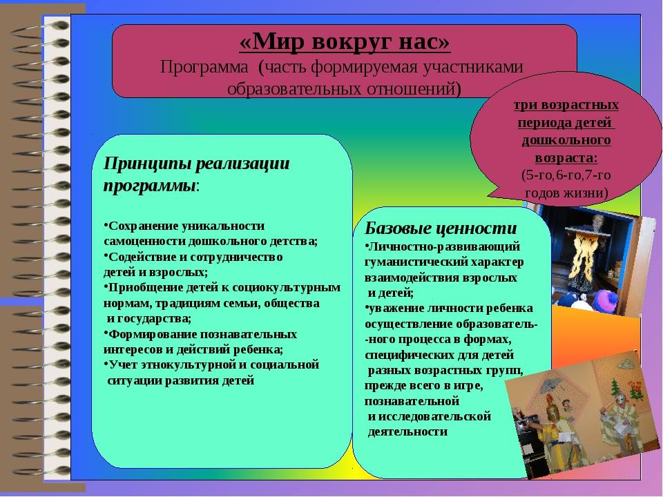 «Мир вокруг нас» Программа (часть формируемая участниками образовательных от...
