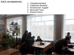 Сахарова валерия Савеленко Валерия Жлобинский Андрей Васильев Тихон Ершов Ник