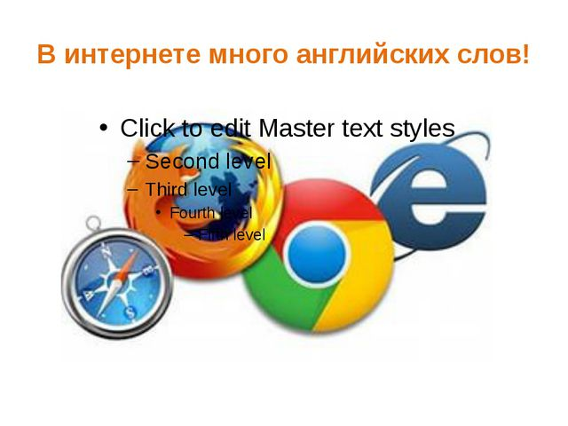 В интернете много английских слов!