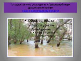 Государственное учреждение «Природный парк Цимлянские пески» Парк в Волгоград